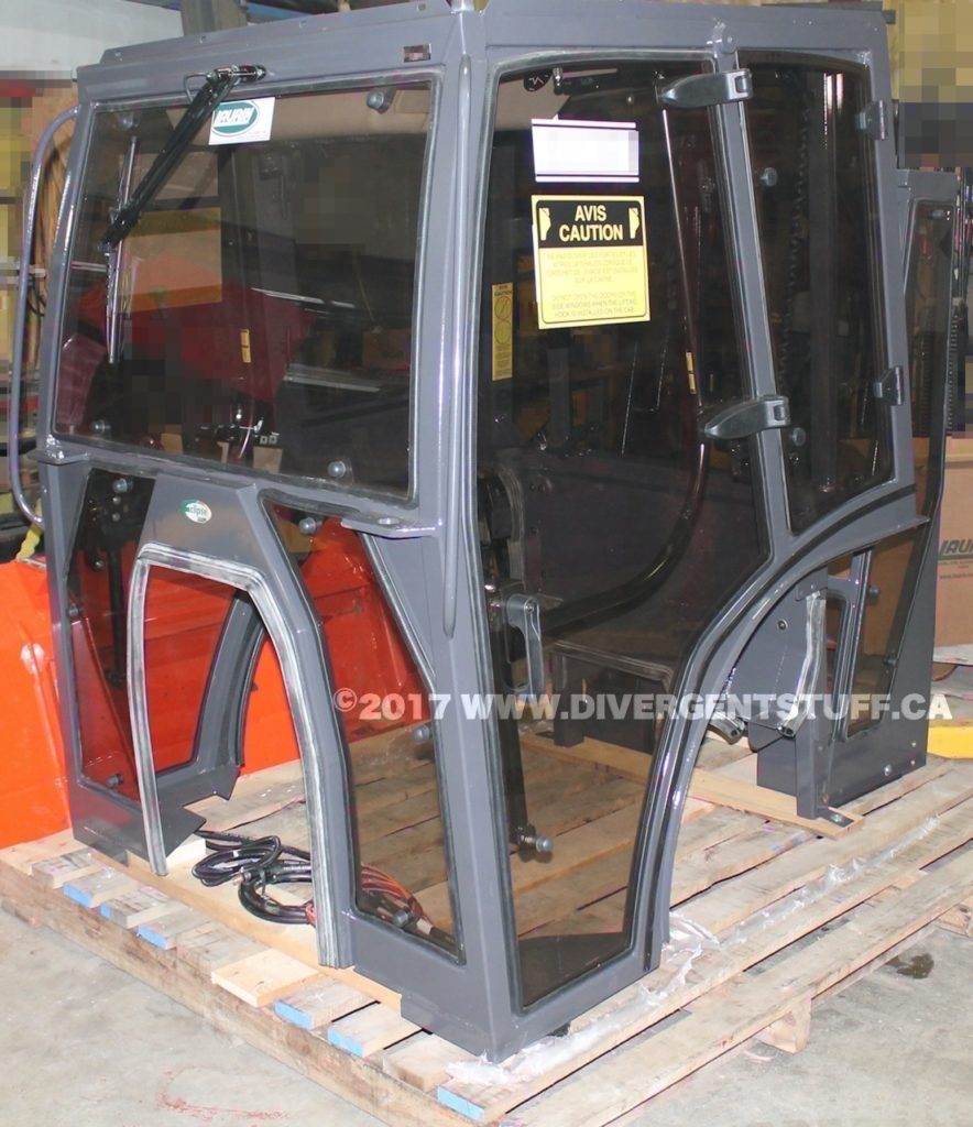Photo showing the main and backhoe cabs