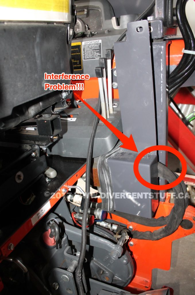 Interference Problem with Hydraulic Remotes Cover