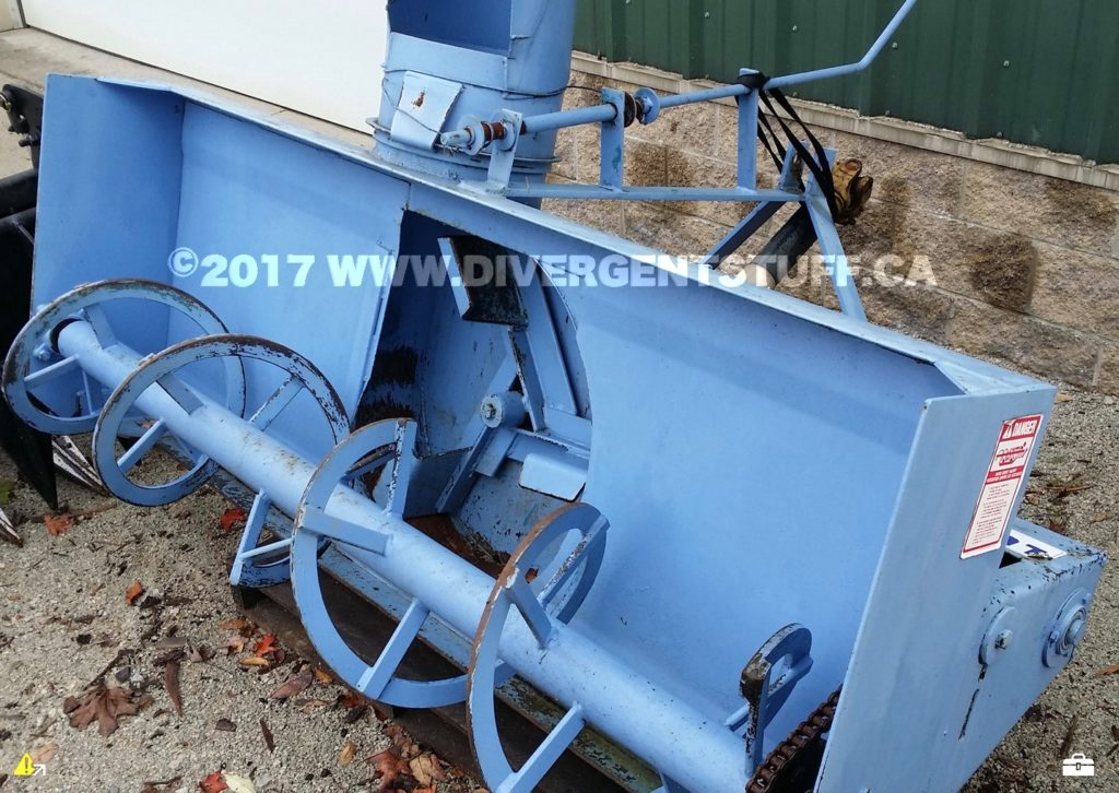 Lucknow snowblower as received auger view closeup
