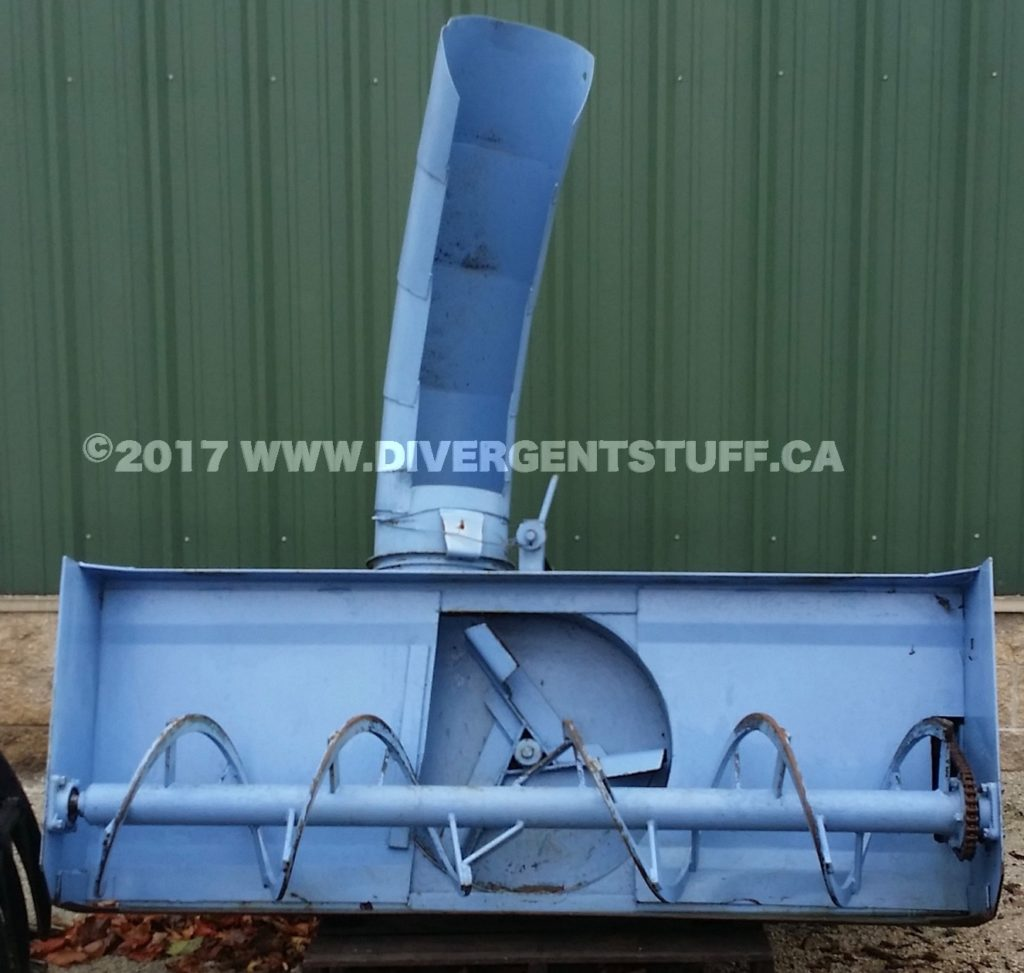 Lucknow snowblower as received auger view