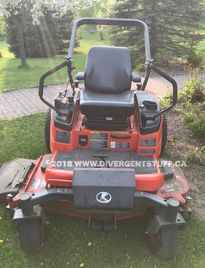 Quest for a better Zero Turn – Kubota ZD326-60P Modifications